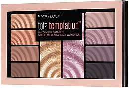 Paleta do makijażu - Maybelline Total Temptation Eyeshadow + Highlight Palette — фото N2