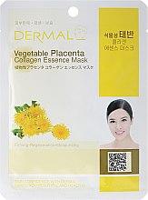 Kup Kolagenowa esencjonalna maseczka do twarzy Roślinna placenta - Dermal Vegetable Placenta Collagen Essence Mask
