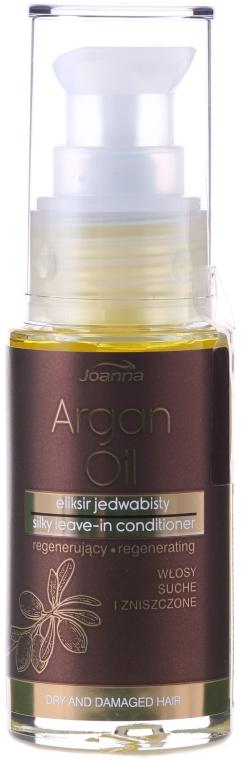 Jedwabisty eliksir regenerujący z olejem arganowym do włosów suchych i zniszczonych - Joanna Argan Oil
