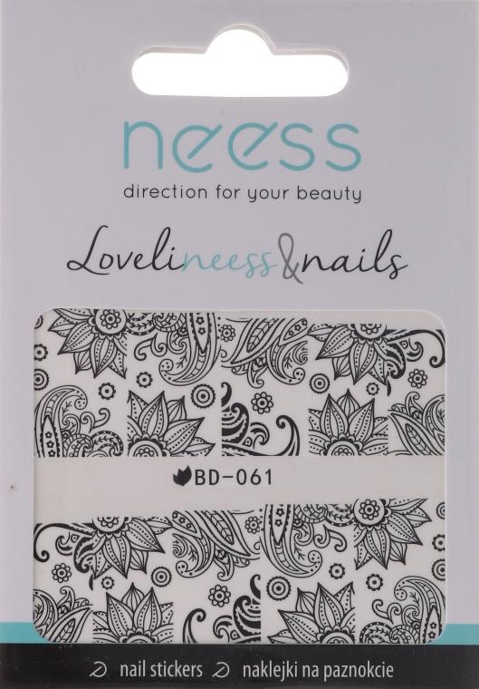 Naklejki na paznokcie, 3685, BD-061 - Neess LoveliNeess & Nails — фото N1