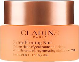 Regenerujący krem na noc przeciw zmarszczkom do skóry suchej - Clarins Extra-Firming Night Rich Cream For Dry Skin — фото N2