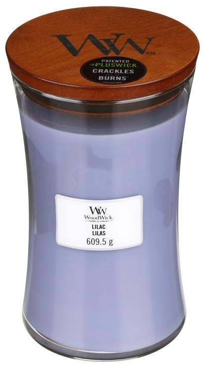 Świeca zapachowa w szkle - WoodWick Hourglass Candle Lilac — фото N4