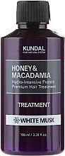 Kup Intensywnie nawilżająca kuracja proteinowa do włosów Białe piżmo - Kundal Honey & Macadamia Treatment White Musk