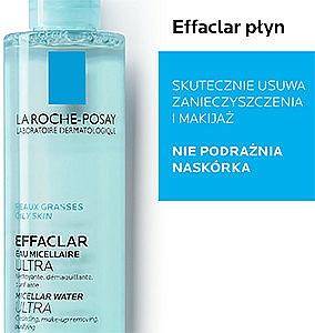 Woda micelarna z wodą termalną do skóry tłustej i wrażliwej do demakijażu twarzy i oczu - La Roche-Posay Effaclar Ultra Micellar Water — фото N3