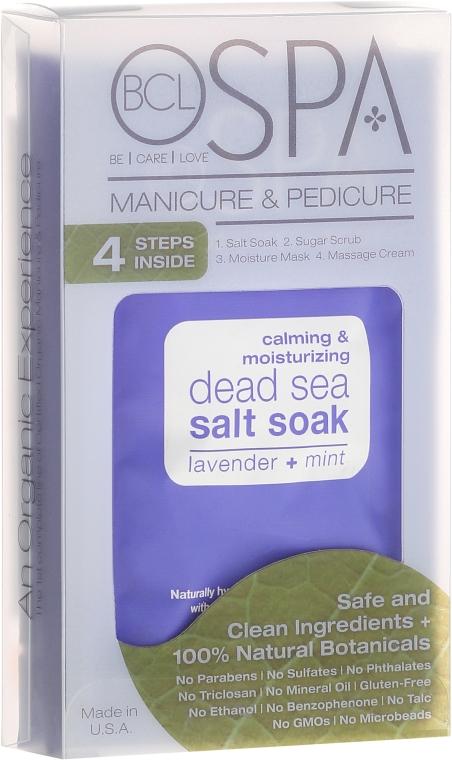 Zestaw do manicure i pedicure - BCL Spa Lavender + Mint Manicure & Pedicure Set (salt 14 g + scr 28 g + mask 15 ml + cr 15 ml) — фото N1
