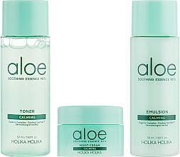 Kojący zestaw do pielęgnacji twarzy - Holika Holika Aloe Skin Care Special Set (toner 50 ml + emulsion 50 ml + cr 20 ml) — фото N2