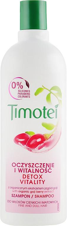 Witaminowy szampon do włosów cienkich i matowych - Timotei Explosion Vitality Shampoo