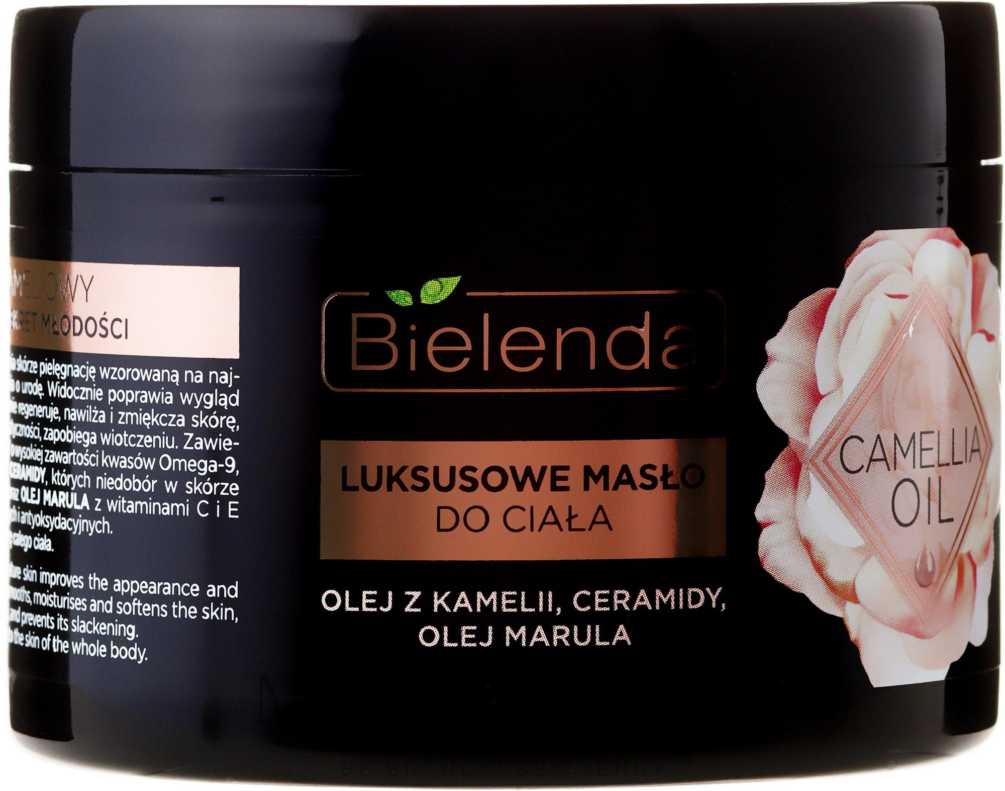 Luksusowe masło do ciała z olejem z kamelii, ceramidami i olejem marula - Bielenda Camellia Oil — фото 200 ml