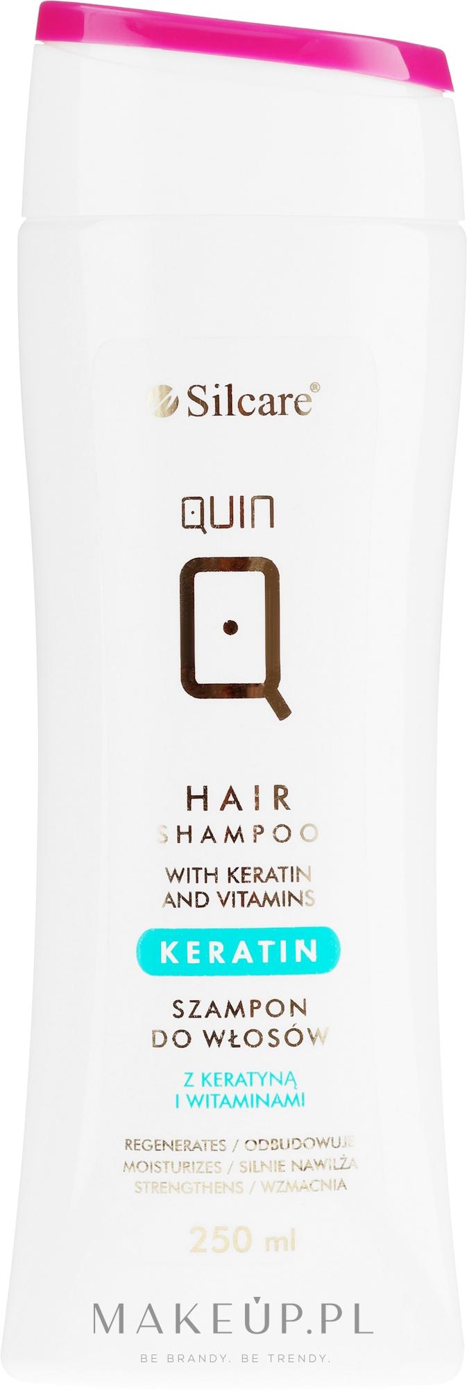 Szampon do włosów z keratyną i witaminami - Silcare Quin Keratin & Vitamins Shampoo — фото 250 ml