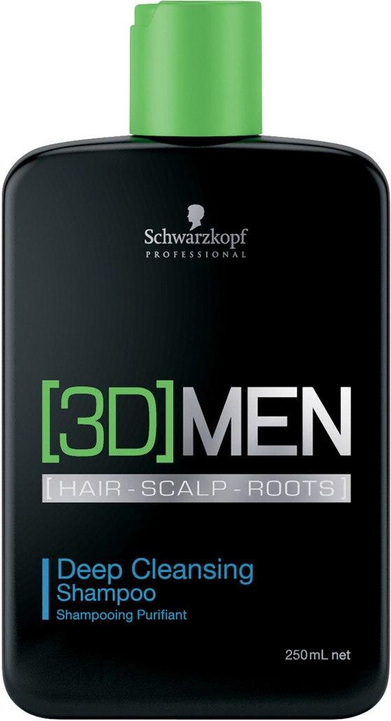 Szampon głęboko oczyszczający - Schwarzkopf Professional 3D Mension Deep Cleansing Shampoo — фото 250 ml