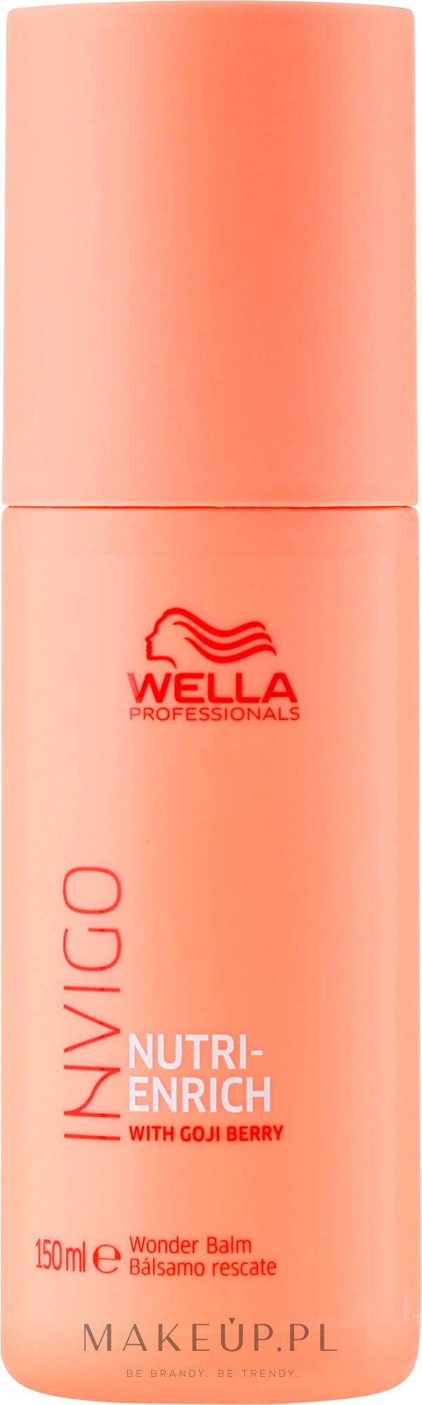 Nawilżający balsam-odżywka bez spłukiwania z nasionami goji do włosów - Wella Professionals Invigo Nutri Enrich Wonder Balm — фото 150 ml