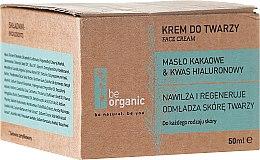 Kup Nawilżający krem do twarzy Masło kakaowe i kwas hialuronowy - Be Organic