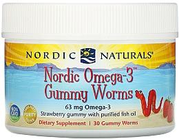 Kup Suplement diety dla dzieci o smaku truskawkowym Omega 3, 63 mg - Nordic Naturals Gummy Worms
