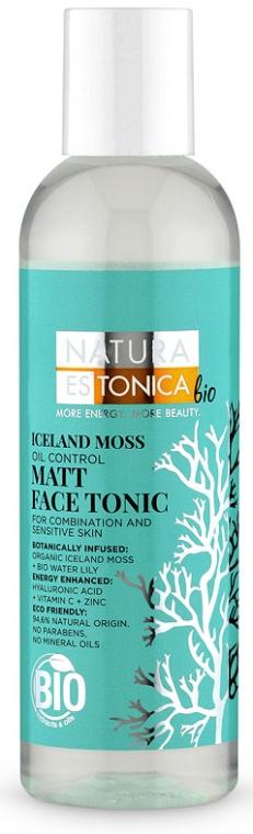 Matujący tonik do twarzy Płucnica islandzka - Natura Estonica Iceland Moss