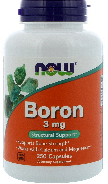 Suplement diety Bor, 3 mg - Now Foods Boron — фото N2