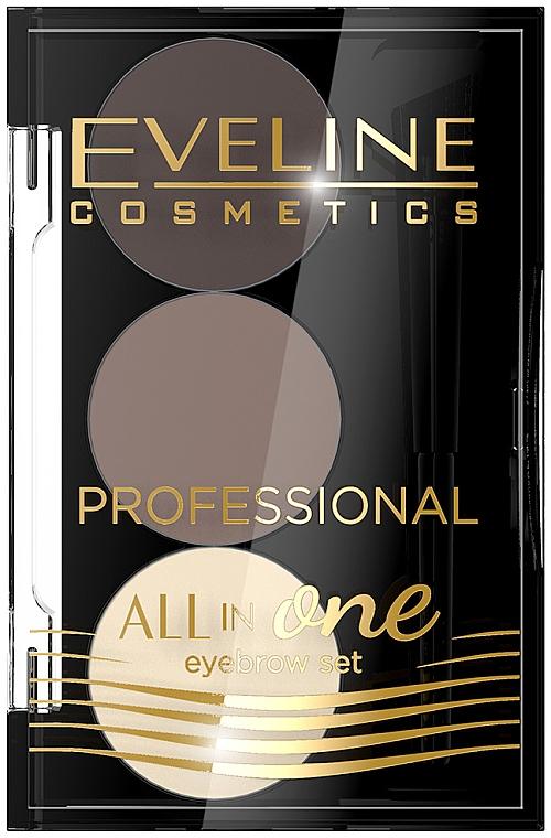 Profesjonalny zestaw do makijażu i stylizacji brwi - Eveline Cosmetics Professional All in One
