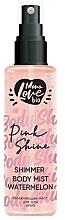 Kup Arbuzowa mgiełka do ciała ze świecącymi drobinkami - MonoLove Bio Shimmer Body Mist Watermelon Pink Shine
