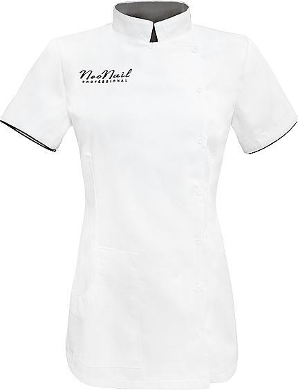 Fartuch kosmetyczny, rozmiar M, biały - NeoNail Professional — фото N1