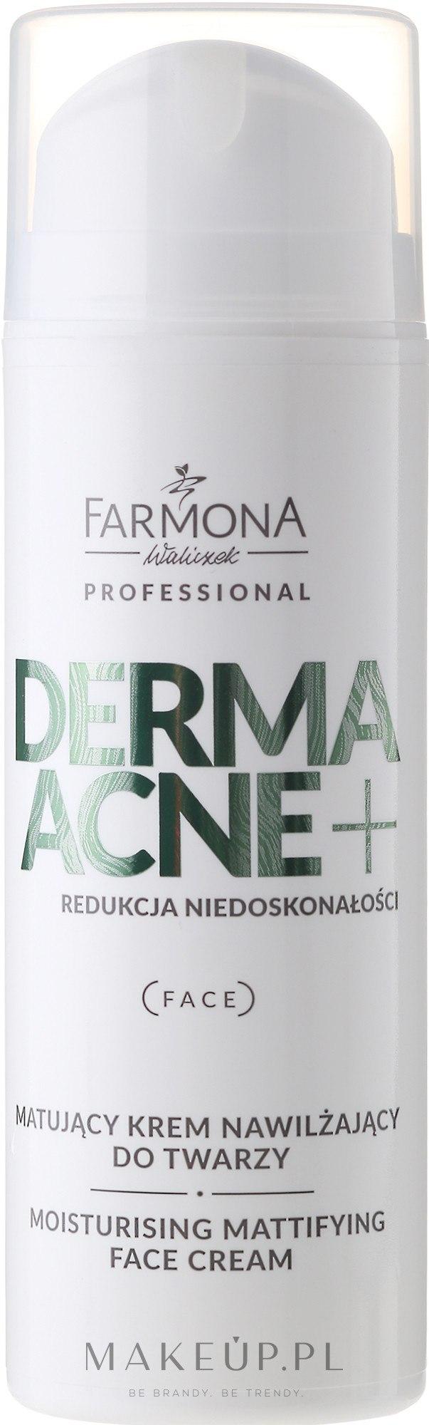 Matujący krem nawilżający do twarzy z kwasami AHA - Farmona Professional Dermaacne+ — фото 150 ml