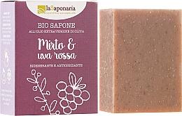 Kup Regenerująco-antyoksydacyjne mydło w kostce z oliwą Mirt i czerwone winogrono - La Saponaria Bio Sapone