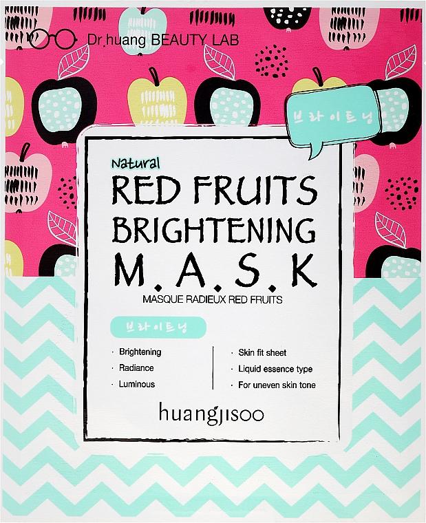 Rozjaśniająca maska w płachcie do twarzy z czerwonymi owocami - Huangjisoo Red Fruits Brightening Mask
