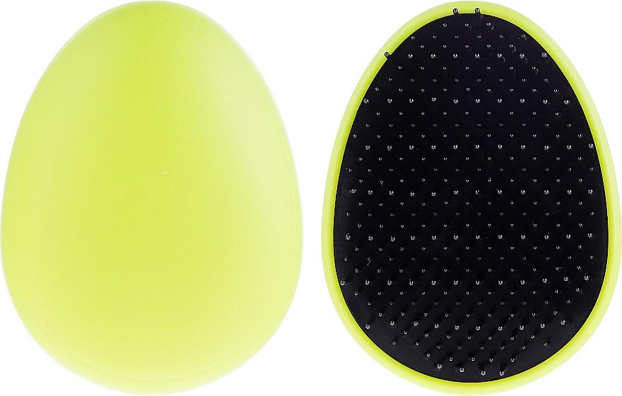 Szczotka do włosów, 63893, limonkowa - Top Choice