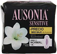 Kup Podpaski, 14 szt. - Ausonia Sensitive Normal With Wings