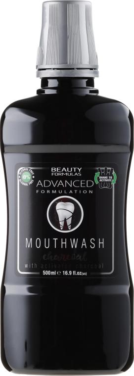 Płyn do płukania jamy ustnej z węglem aktywnym - Beauty Formulas Advanced Charcoal Mouthwash