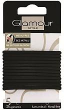 Kup Gumki do włosów, 414687, czarne - Glamour