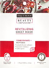Kup Rewitalizująca maska na tkaninie do twarzy - Freeman Beauty Infusion Revitalizing Sheet Mask Pomegranate + Peptides