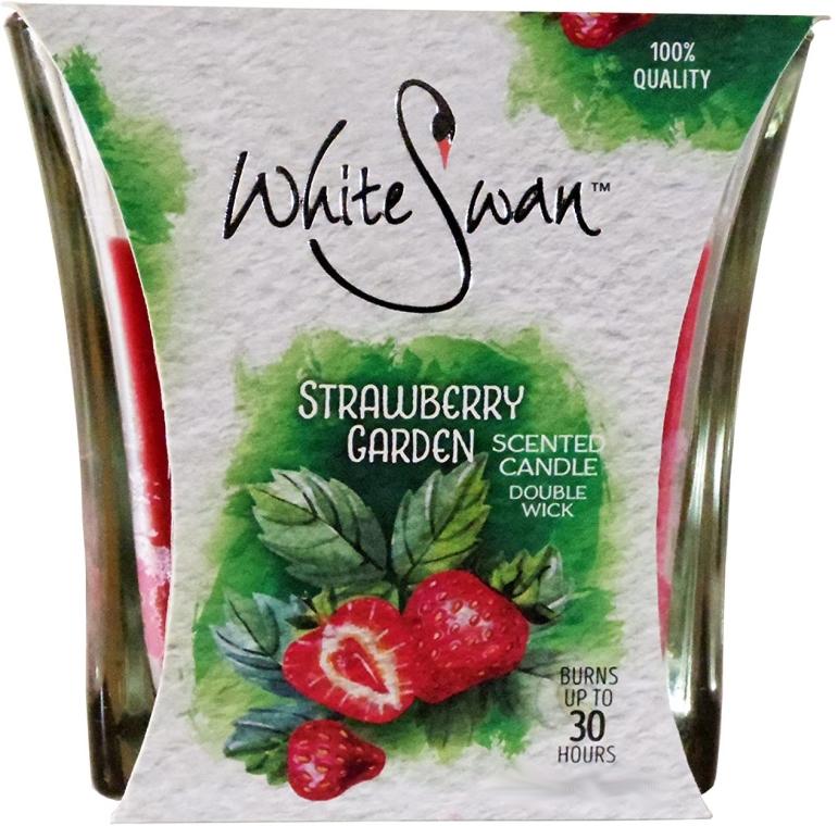 Świeca zapachowa Malinowy ogród - White Swan Strawberry Garden — фото N1