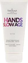 Kup Trójaktywny peeling do dłoni anti-ageing - Farmona Professional Hands Slow Age