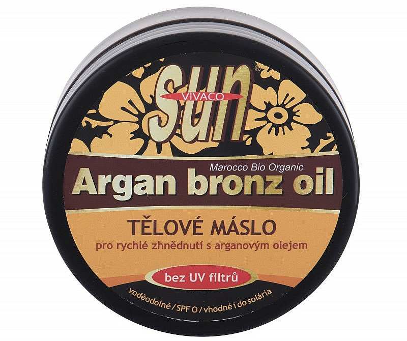 Arganowy olejek do opalania - Vivaco Sun Argan Bronze Oil Tanning Butter — фото N1