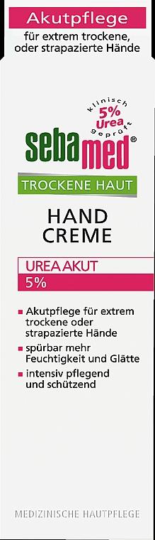Krem do rąk - Sebamed Trockene Haut Hand Creme Urea Akut 5% — фото N1