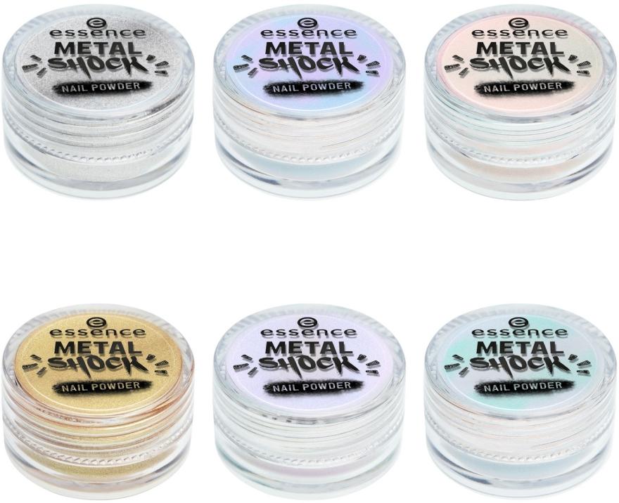 Metaliczny puder do paznokci - Essence Metal Shock Rainbow Nail Powder — фото N4