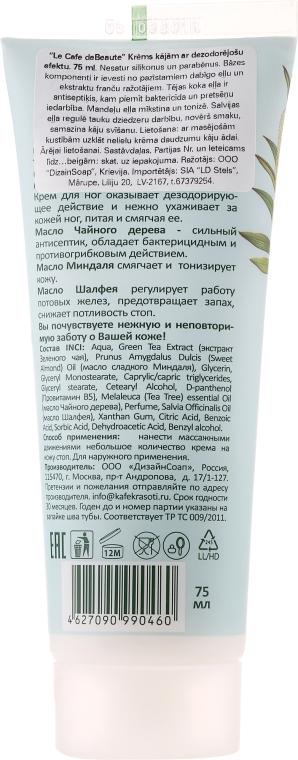 Krem dezodorujący do stóp - Le Café de Beauté Foot Cream — фото N2