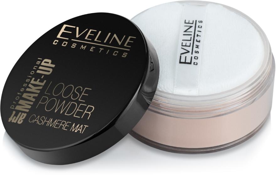 Sypki puder matujący do twarzy - Eveline Cosmetics Loose Powder Cashmere Mat — фото N2