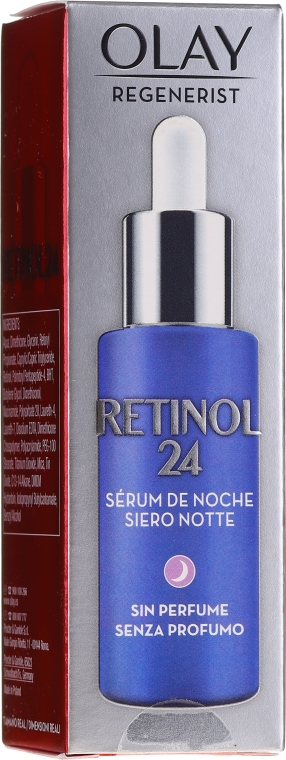Bezzapachowe serum do twarzy na noc - Olay Regenerist Retinol24 Night Serum — фото N1