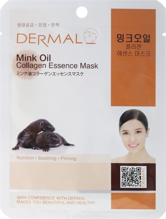 Kolagenowa esencjonalna maseczka do twarzy Olej z norek - Dermal Mink Oil Collagen Essence Mask — фото N1