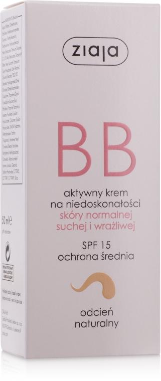 Aktywny krem BB na niedoskonałości do skóry normalnej, suchej i wrażliwej Odcień naturalny SPF 15 - Ziaja — фото N2