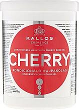 Kondycjonująca maska do włosów z olejem z pestek czereśni - Kallos Cosmetics KJMN Conditioning Mask With Cherry Seed Oil — фото N3
