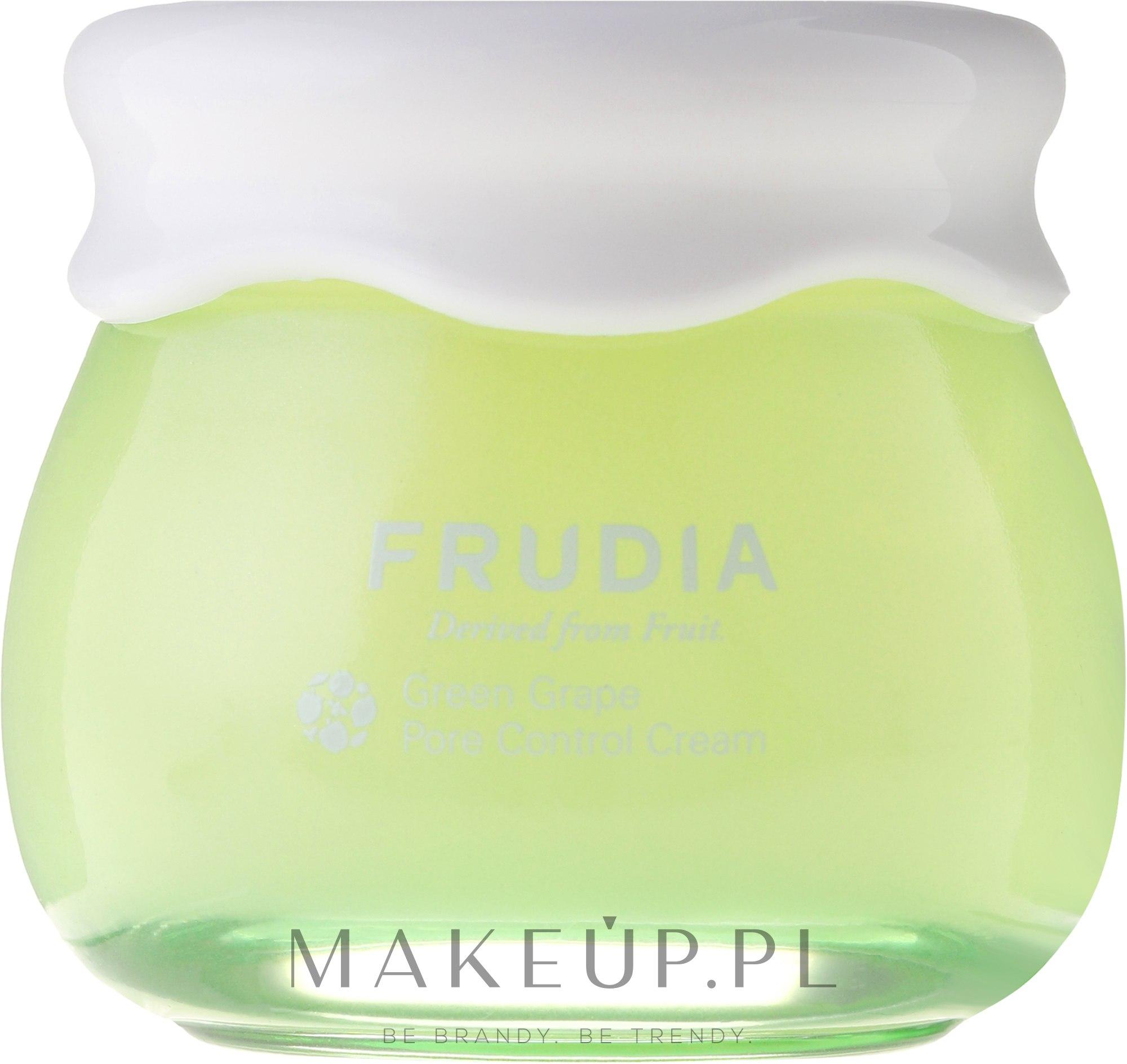 Winogronowy krem do twarzy wyrównujący gospodarkę hydrolipidową - Frudia Pore Control Green Grape Cream — фото 55 g
