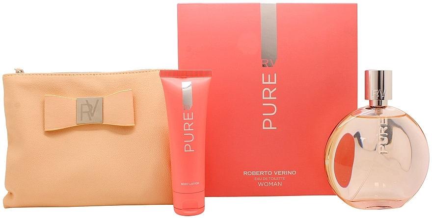 Roberto Verino Pure for Her - Zestaw (edt 120 ml + b/lot 50 ml + bag) — фото N1