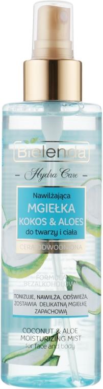 Nawilżająca mgiełka Kokos i aloes do twarzy i ciała - Bielenda Hydra Care