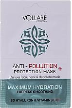 Kup Nawilżająco-wygładzająca maska do twarzy, szyi i dekoltu - Vollare Anti-Pollution Protection Mask