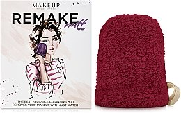 Kup Bordowa rękawiczka do demakijażu ReMake (15 x 12 cm) - Makeup