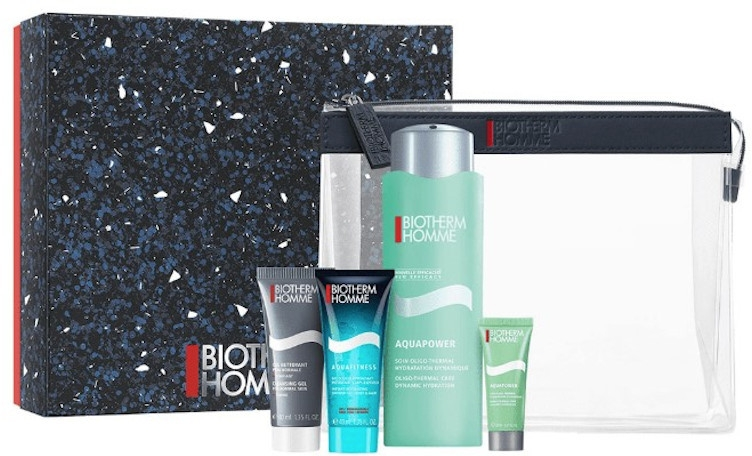 Zestaw - Biotherm Homme (gel 40 ml + emulsion 75 ml + gel/shmp 40 ml + cr 20 ml + bag) — фото N1