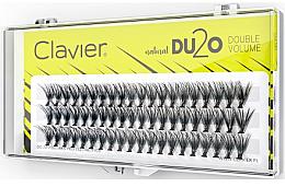 Kup Kępki sztucznych rzęs Podwójna ilość, 14 mm - Clavier DU2O Double Volume
