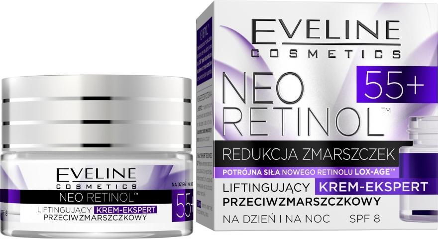 Liftingujący krem-ekspert przeciwzmarszczkowy na dzień i na noc - Eveline Cosmetics Neo Retinol 55+