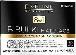 Kup Bibułki matujące usuwające nadmiar sebum 8 w 1 - Eveline Cosmetics